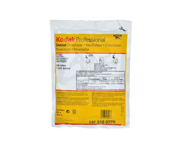 Kodak Dektol Papierentwickler in pulverform für 3,8L