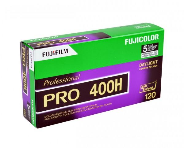 Fuji PRO 400 H roll film 120 pack of five