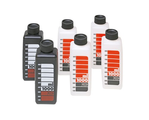 JOBO 3300 | SKALED BOTTLES 1.000ml (4x white / 2x black)