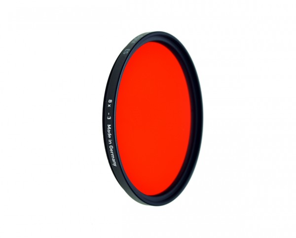 Heliopan black and white filter light red 25 diameter: 55mm (ES55)
