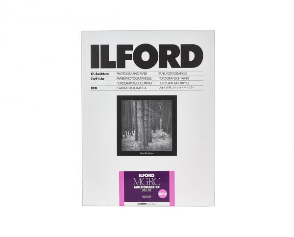 """Ilford Multigrade RC De Luxe glänzend (1M) 17,8x24cm (7x9,5"""") 100 Blatt"""