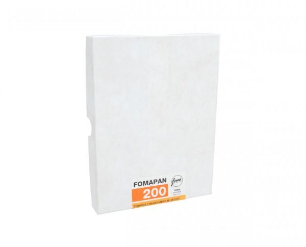 """Fomapan 200 Planfilm 12,7x17,8cm (5x7"""") 50 Blatt"""