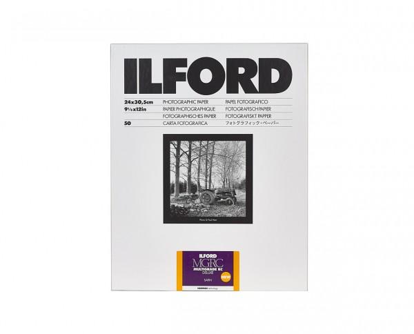 "Ilford Multigrade V RC De Luxe satin (25M) 24x30,5cm (9,5x12"") 50 Blatt"