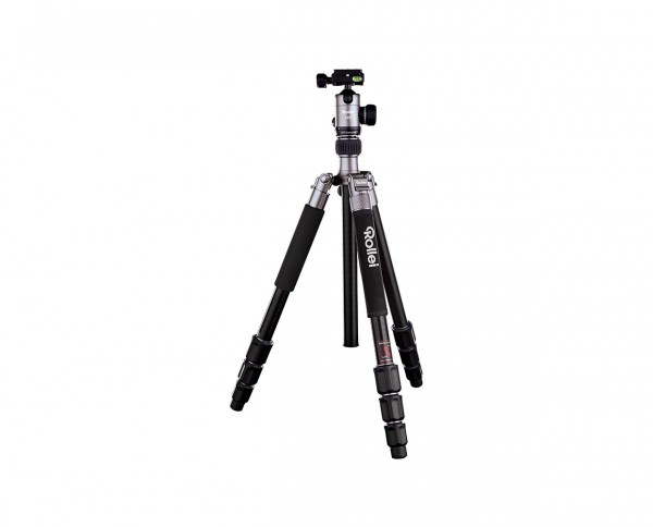 Rollei Stativ C5i Plus Alu 'Titanium' | Inkl. Kugelkopf T2S, zwei Wechselplatten und Stativtasche