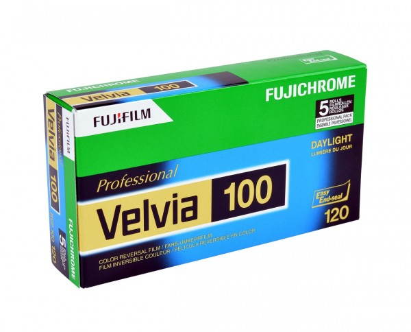 Fuji Velvia 100 roll film 120 pack of five