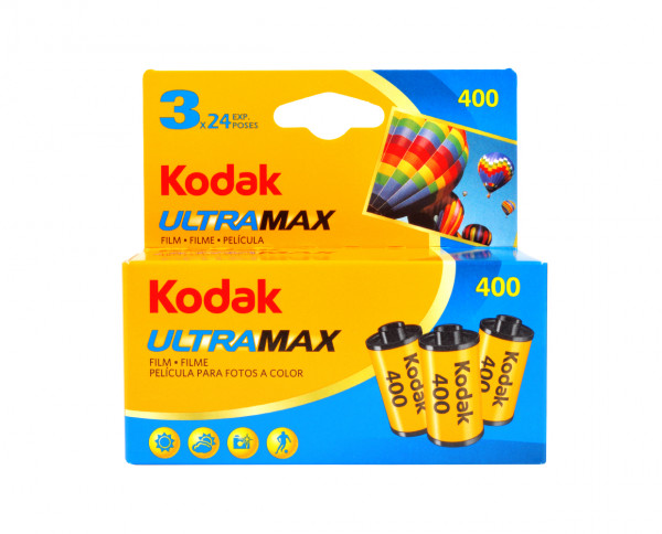 Kodak Ultra Max 400 35mm 24 exposures pack of three
