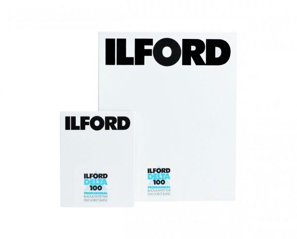 """Ilford Delta 100 Planfilm 10,2x12,7cm (4x5"""") 100 Blatt"""