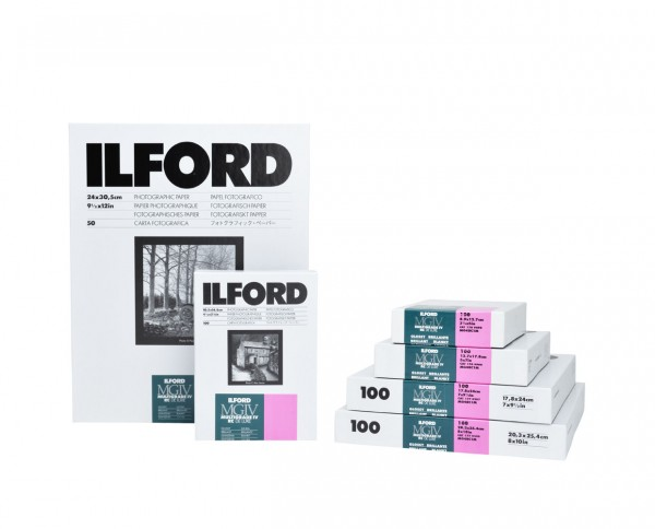 """Ilford Multigrade IV RC De Luxe glänzend (1M) 30,5x40,6cm (12x16"""") 10 Blatt"""