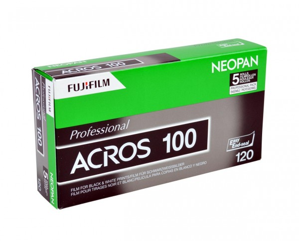 Fuji Neopan Acros 100 roll film 120 five-pack EXP 10-2019