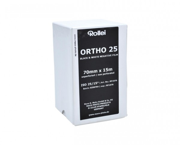 Rollei Ortho 25 70mm x 15m unperforated