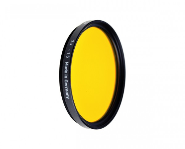 Heliopan black and white filter dark yellow 15 diameter: 49mm (ES49)
