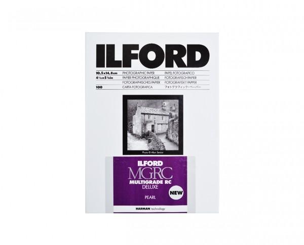 "Ilford Multigrade IV RC De Luxe pearl (44M) 10,5x14,8cm (4,1x5,9"") 100 Blatt"