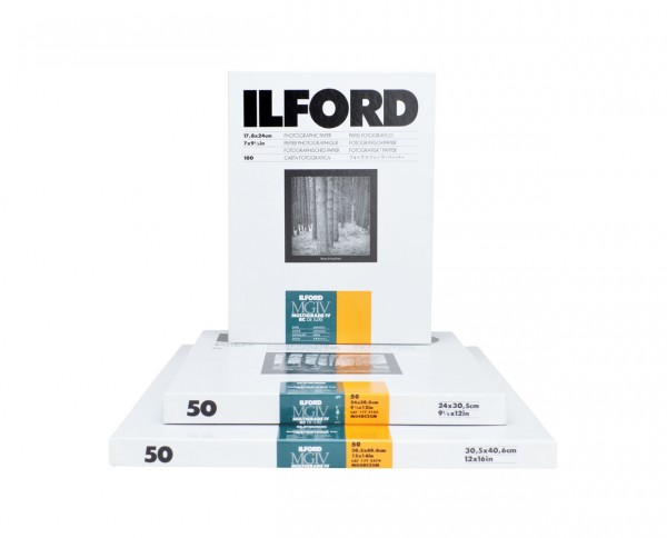 "Ilford Multigrade V RC De Luxe satin (25M) 17,8x24cm (7x9,5"") 100 Blatt"