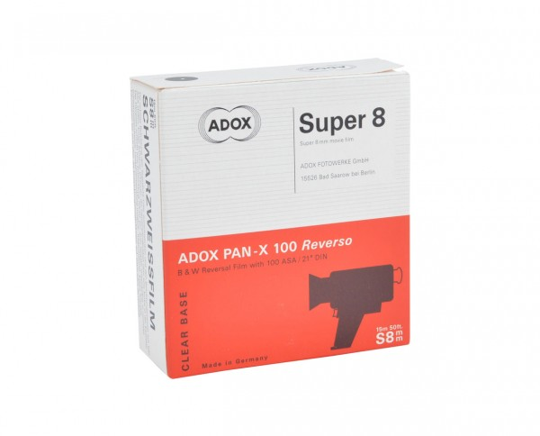 Adox PAN-X Reverso Super 8 film 15m