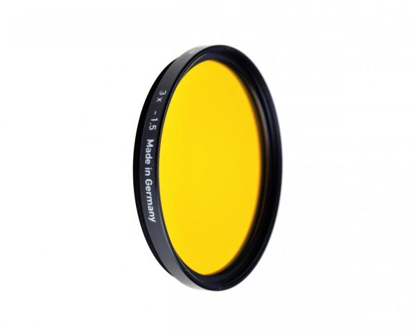 Heliopan black and white filter dark yellow 15 diameter: 62mm (ES62)