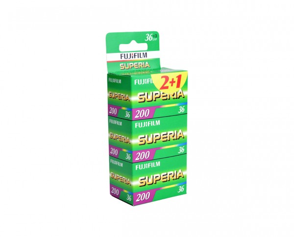 Fuji Superia 200 35mm 36 exposures pack of three