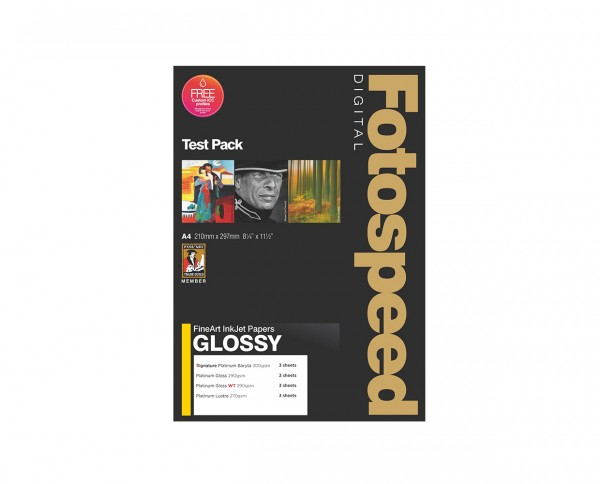 Fotospeed Fine Art Glossy Test Pack A4 -12 Blatt