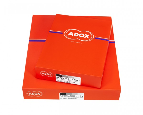 """Adox MCC 110 FB glänzend 30,5x40,6cm (12x16"""") 25 Blatt"""