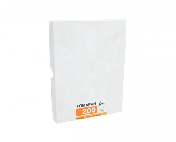"Fomapan 200 sheet film 4x5"" (10.2x12.7cm) 50 sheets"