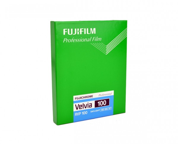 "Fuji Velvia 100 sheet film 4x5"" (10.2 x 12.7cm) 20 sheets"