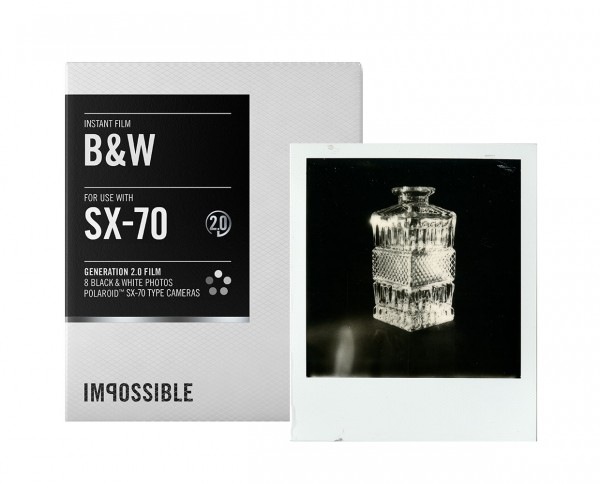 Impossible B&W SX-70 instant film 8 exposures