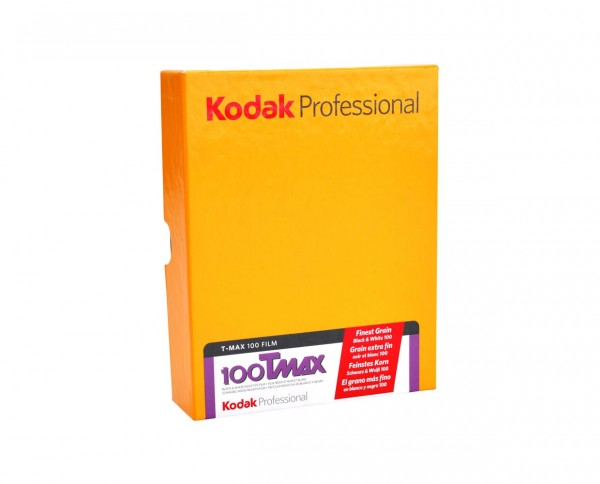 """Kodak T-MAX 100 sheet film 8x10"""" (20,3x25,4cm) 10 sheets"""
