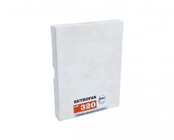 "Foma Retropan 320 sheet film 8x10"" (20.3x25.4cm) 50 sheets"