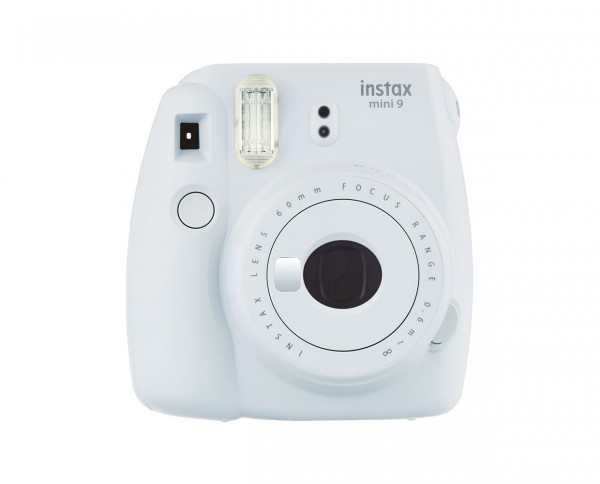 Fuji instax mini 9 instant camera smoky white