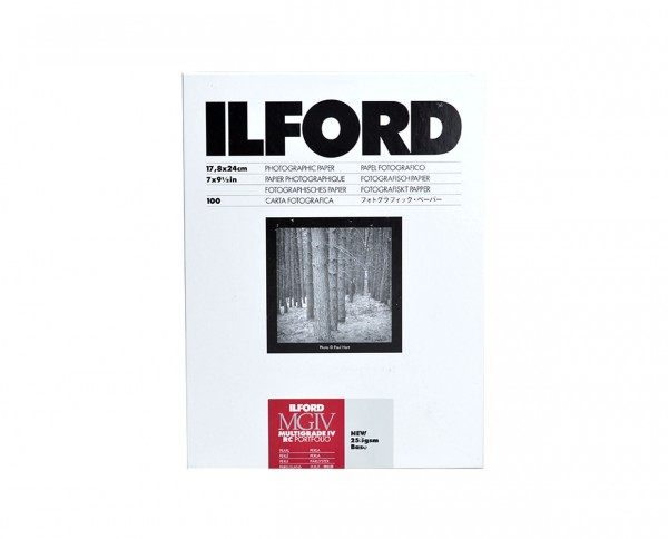 "Ilford MG IV RC Portfolio 7x9.5"" (17.8x24cm) 100 sheets"