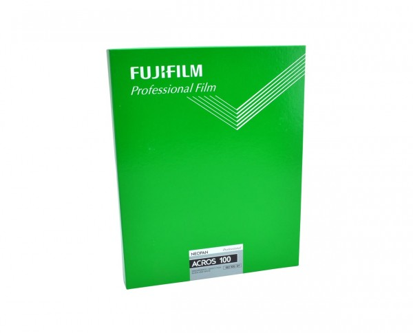 "Fuji Neopan Acros 100 sheet film 8x10"" (20.3x25.4cm) 20 sheets"