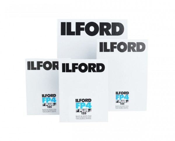 "Ilford FP4 sheet film 7x9.5"" (18x24cm) 25 sheets"