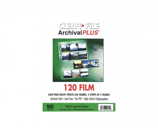Clearfile PP negative sleeves medium format 6x6cm 100 sheets