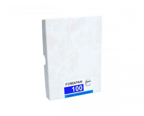 "Fomapan 100 sheet film 7x9.5"" (18x24cm) 50 sheets"