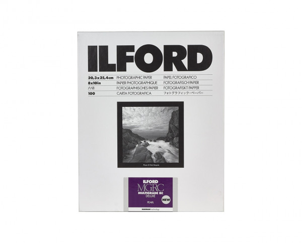 "Ilford Multigrade RC De Luxe pearl (44M) 20x25,4cm (8x10"") 100 Blatt"