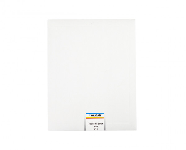 "Wephota FO 5 lith film 8x10"" (20,3x25,4cm) 20 sheets"