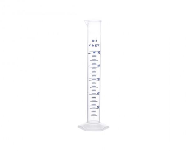 Vitlab graduated cylinder | raised blue scale | 50ml