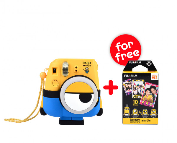 SALE | Fuji instax mini 8 instant camera 'Minion Edition' | incl. 1 film (exp. 04.2019)