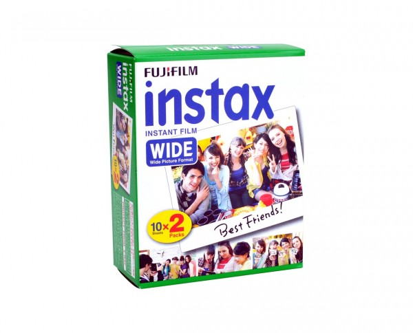 Fuji instax wide instant film wide-format 10 sheets twin pack