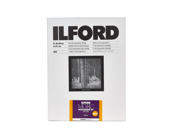 "Ilford Multigrade RC De Luxe satin (25M) 7x9.5"" (17.8x24cm) 100 sheets"