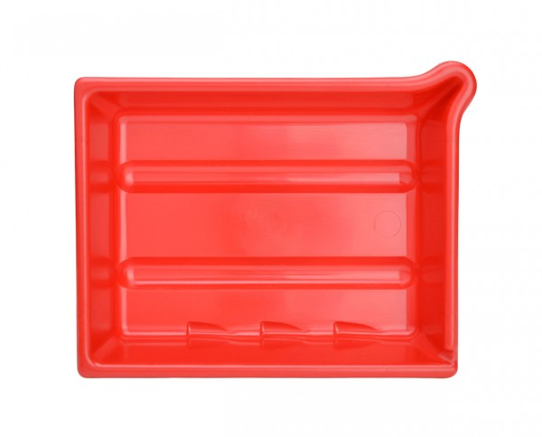 "AP developing tray 9.5x12"" (24x30cm) red"