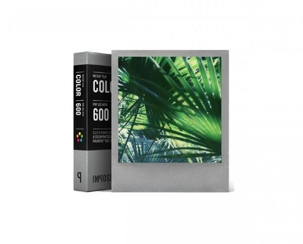 Impossible Color 600 Silberrahmen Sofortbildfilm 8 Aufnahmen