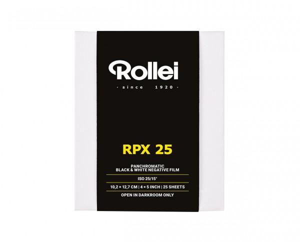 "Rollei RPX 25 Planfilm 10,2x12,7cm (4x5"") 25 Blatt"