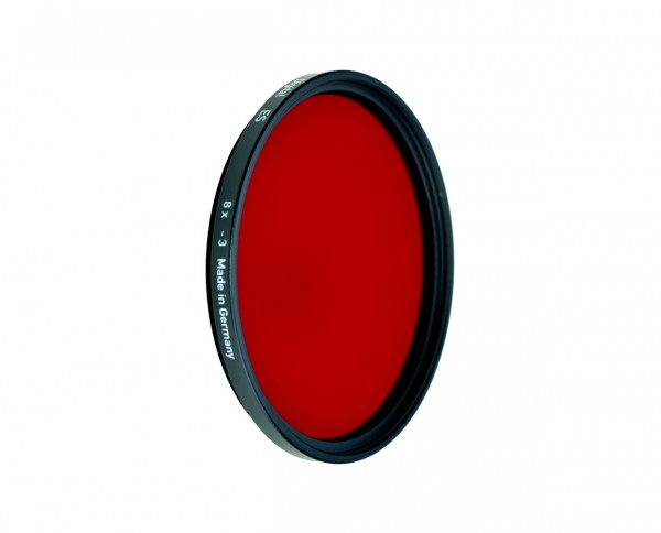 Heliopan black and white filter red 29 diameter: 49mm (ES49)