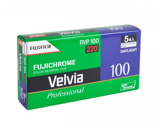 Fujichrome Velvia 100 roll film 220 pack of five