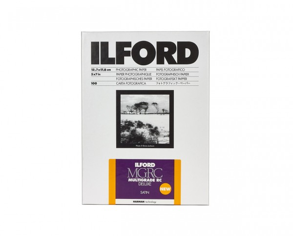 "Ilford Multigrade V RC De Luxe satin (25M) 5x7"" (12.7x17.8cm) 100 sheets"