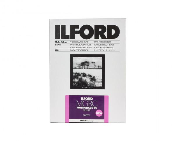 "Ilford Multigrade V RC De Luxe glänzend (1M) 12,7x17,8cm (5x7"") 100 Blatt"