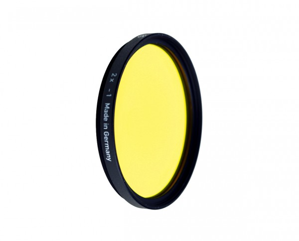Heliopan black and white filter medium yellow 12 diameter: 77mm (ES77)