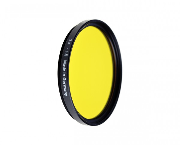 Heliopan black and white filter medium yellow 8 diameter: 40.5mm (ES40.5)
