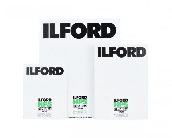 """Ilford HP5 Plus sheet film 4x5"""" (10.2x12.7cm) 25 sheets"""