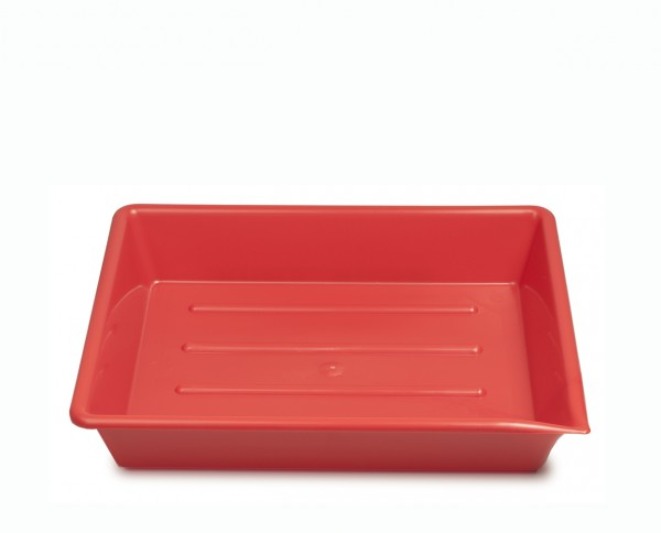 "Kaiser lab trays 9.5x12"" (24x30cm) red"